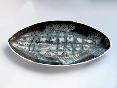 One of a Kind Platter with Unique Fish by Brenda