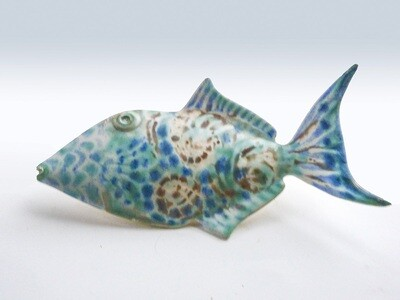 Vintage Tropical Fish Hand Decorated