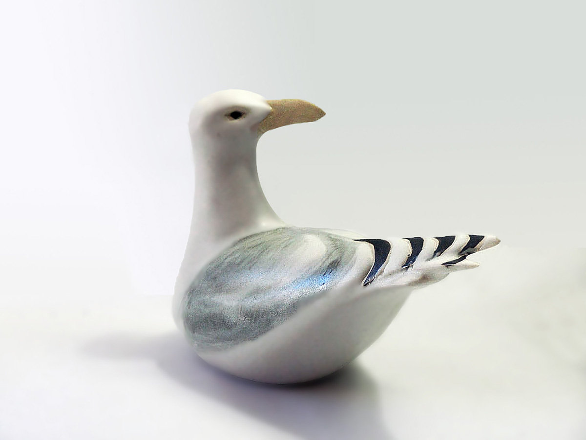 Turned Sea Gull. Large, Second Quality