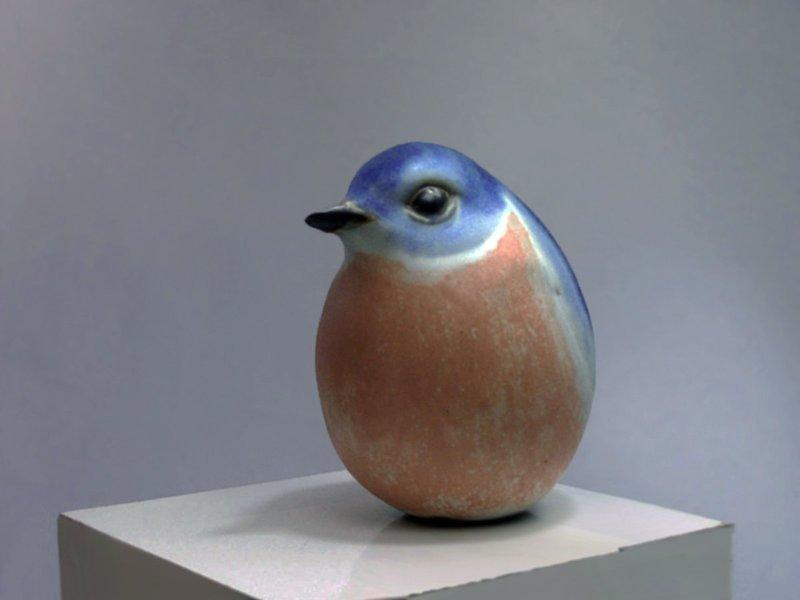 Eastern Bluebird, Round, Second Quality
