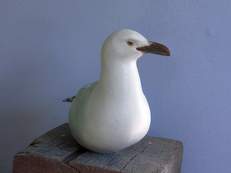 Perching Gull with Yellow Beak, Second Quality