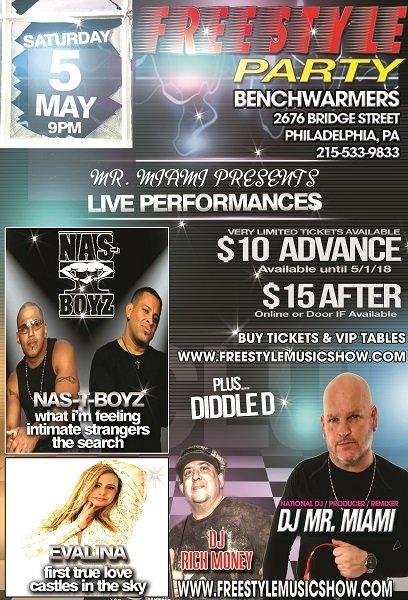 1 Ticket 05-05-2018 Freestyle Show - Benchwarmers (Philadelphia, PA) 05-05-2018-one-ticket