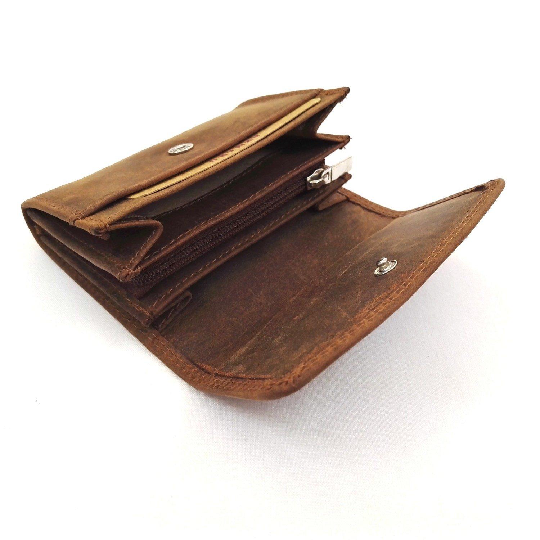 Porte-monnaie en Cuir de Vachette Vintage Huilé #CHV058
