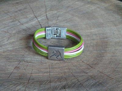 Bracelet Cuir Rond 6 Brins Personnalisable avec Fermoir Acier Coulissant Taureau