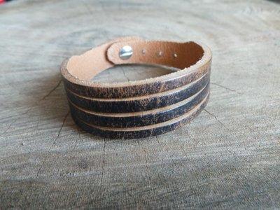 Bracelet en Cuir Brut 4 Lanières