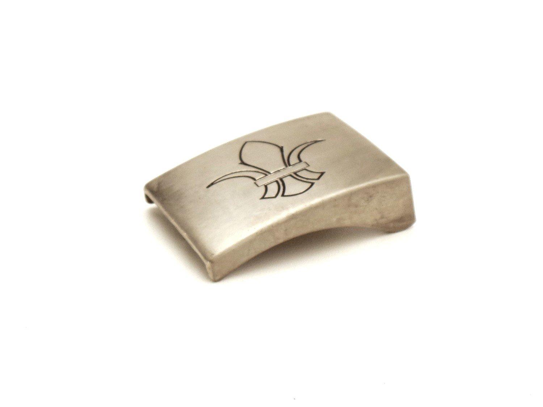 Boucle de Ceinture Fleur de Lys 4 CM