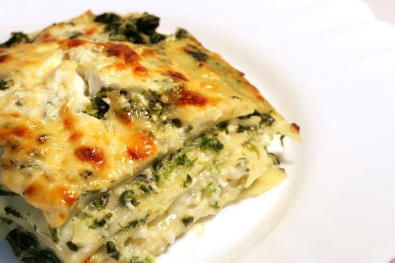 Veggie Lasagna with Tomat/Cucumber Green Salad 010