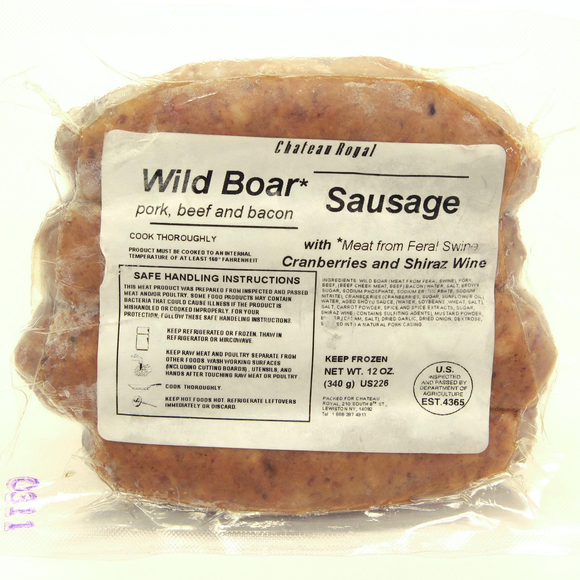 Chateau Royal, Wild Boar Sausage, 12 oz. 00048