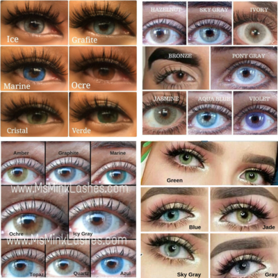 25-200 Pairs Colored Contacts | BULK WHOLESALE