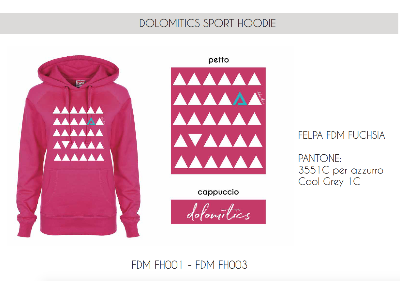 Pink Sport Hoodie woman FDM003 Pink W