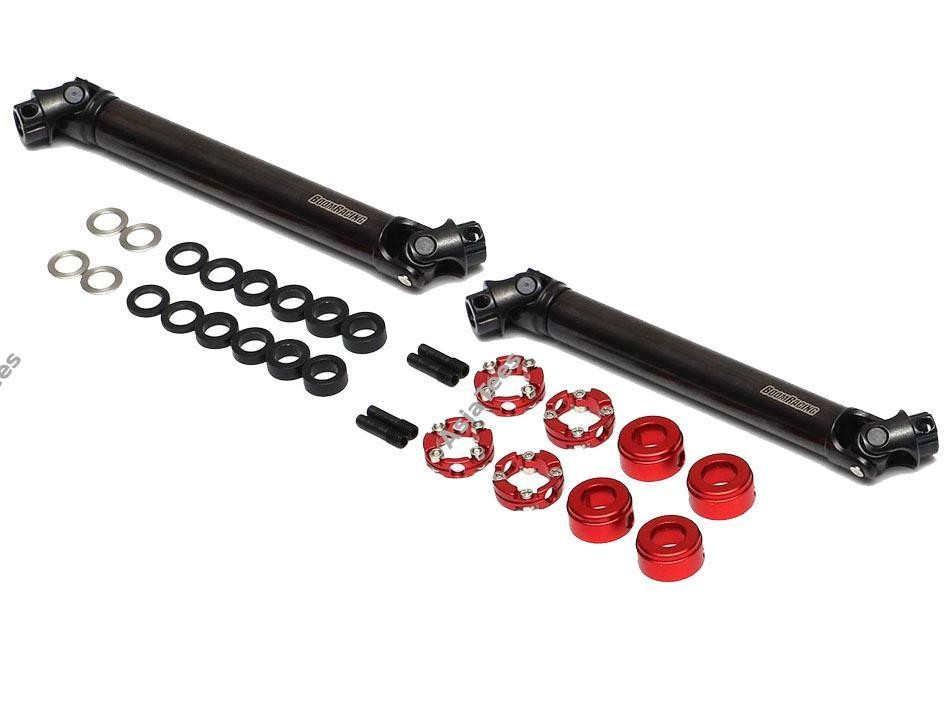 Boom Racing BADASS™ HD Steel Center Drive Shaft Set for Hobao DC1 Front & Rear (2