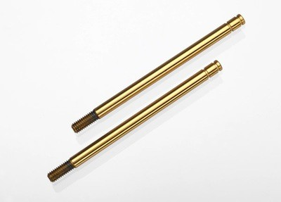 Traxxas Shock shafts, hardened steel, titanium nitride coated (long) (2)