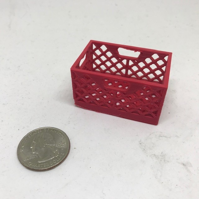 Scale Milk Crate (Red)