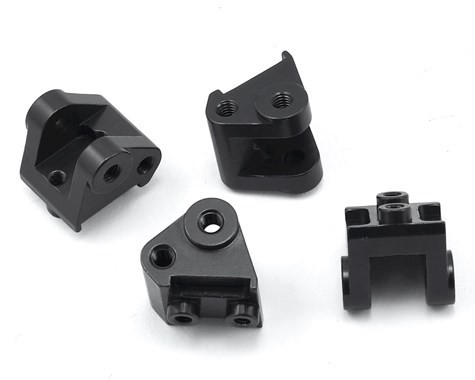 ST Racing Concepts SCX10 II Brass Lower Shock Mounts (Black) (4)
