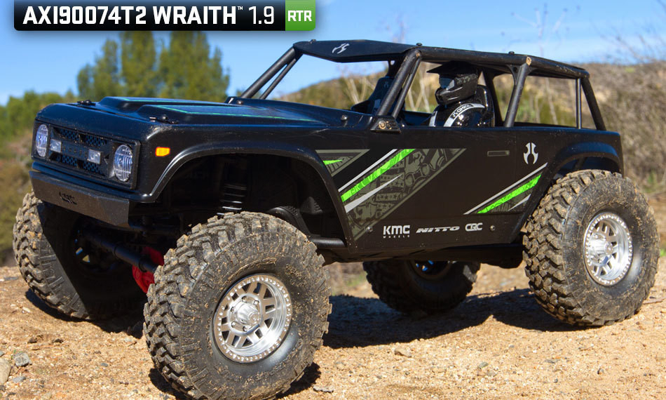 Axial Racing Wraith 1.9 1/10th 4wd RTR: Black