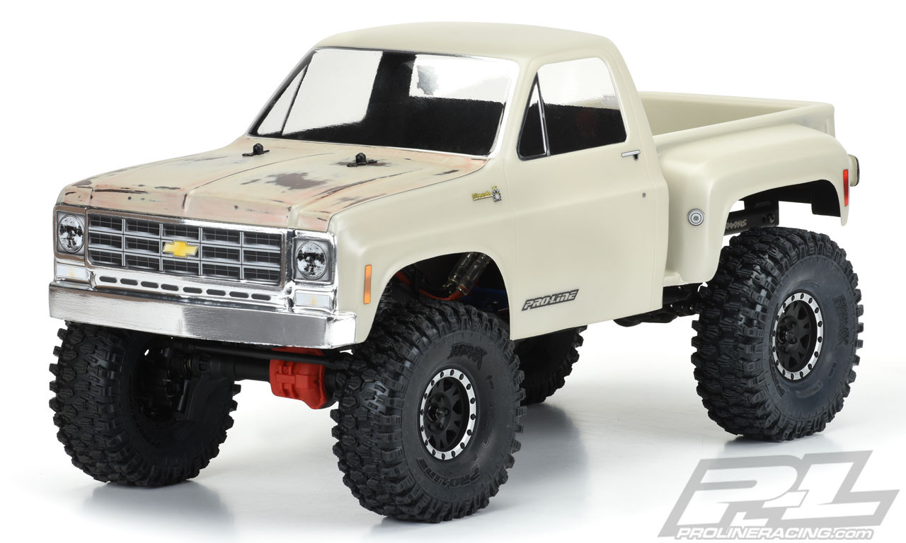 "Pro-Line Racing 1978 Chevy K-10 Clear Body (Cab & Bed) for 12.3"" (313mm) Wheelbase Scale Crawlers"