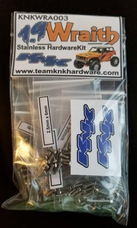 Team KnK Axial 1.9 Wraith Stainless Hardware Kit
