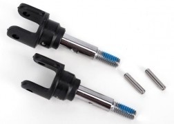 Traxxas Stub axles, front, heavy duty (2)/ yokes (2)/ pins (4)