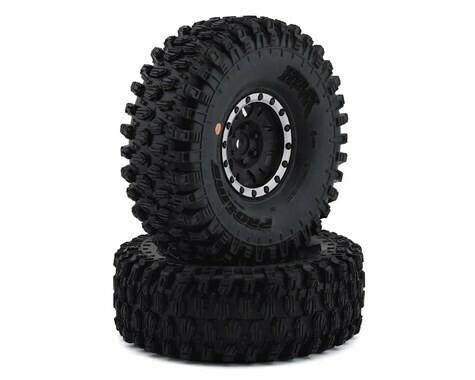 "Pro-Line Hyrax 1.9"" Tires w/Impulse Wheels (Black/Silver) (2) (G8)"