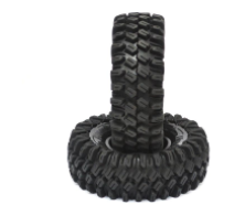 Boom Racing HUSTLER M/T Xtreme 1.9 Rock Crawling Tires 4.45x1.57 SNAIL SLIME™ Compound W/ 2-Stage Foams (Super Soft) (2)