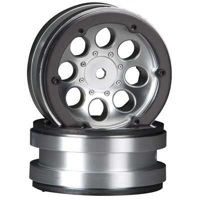 "Axial 8-Hole 1.9"" Beadlock Wheel Satin Chrome (2)"