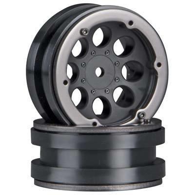 "Axial 8-Hole 1.9"" Beadlock Wheel Black (2)"