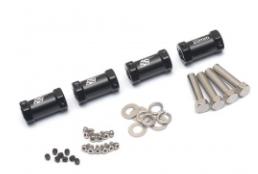 Boom Racing KRAIT™ Aluminum 12mm Wheel Hex Widener (4) (Offset: 20mm) - Black