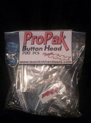 Team KnK (700 pcs) Button Head ProPak Stainless Bulk Bag