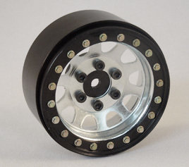 "SSD RC 1.9"" STEEL D HOLE WHEELS (SILVER)"