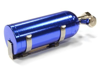 REALISTIC 1/10 SCALE ALLOY NITROUS BOTTLE W/ MOUNTING BRACKET & HARDWARE Blue