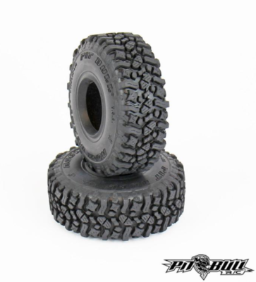 PITBULL ROCK BEAST 1.55 SCALE RC TIRES (ALIEN KOMPOUND) W/FOAM - 2pc