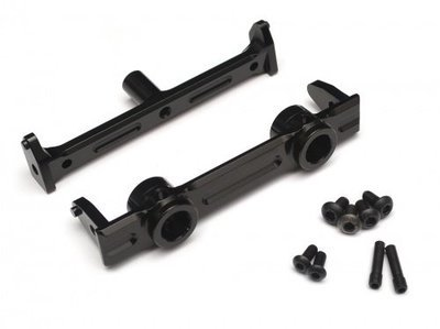 Boom Racing Aluminum Front Bumper Mount - 1 Pc Black for Axial SCX10