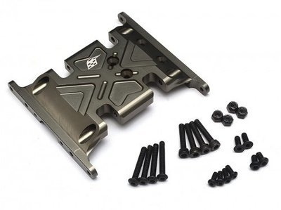 Boom Racing Aluminum Skid Plate - 1 pc Gun Metal for Axial SCX10