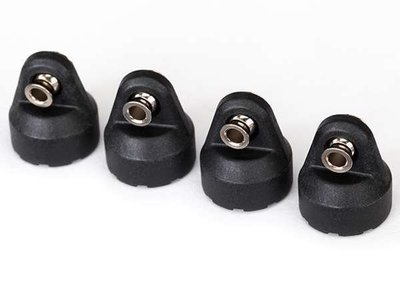 Traxxas Shock caps (black) (4) (assembled with hollow balls)