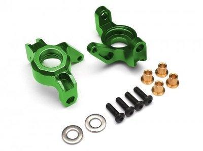 Boom Racing Aluminum HD Steering knuckle / Block (2) Green