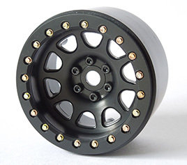 "2.2"" D HOLE WHEELS (BLACK)"