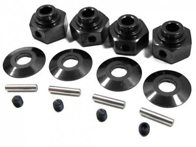Boom Racing Aluminum Hexagon Wheel Hub (4) Black