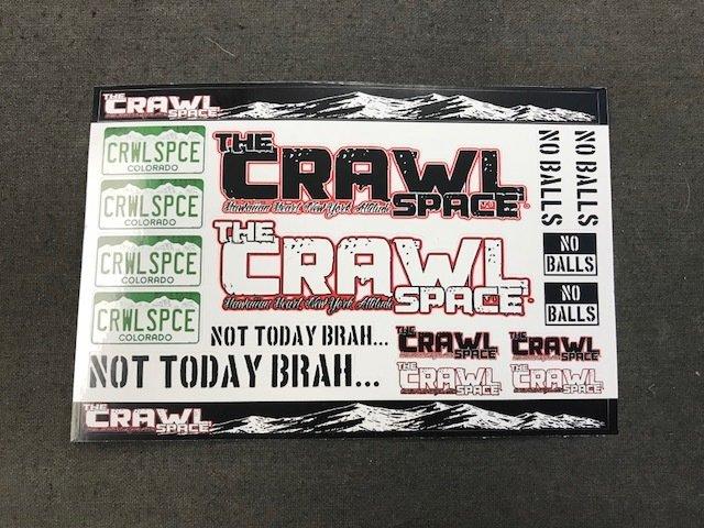 Crawl Space Sticker Sheet #1