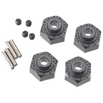 Axial Racing Aluminum Hex Hub 12mm Black (4)