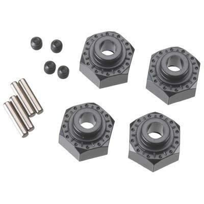 Axial Racing Aluminum Hex Hub 12mm Black (4)