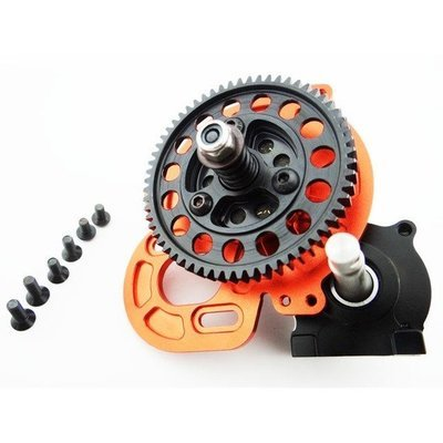 Hot Racing Extended Output Steel Gear Locked Transmission Gearbox