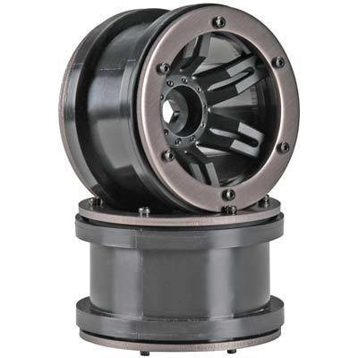 Axial Rocksters 2.2 Beadlock Wheel Black (2)
