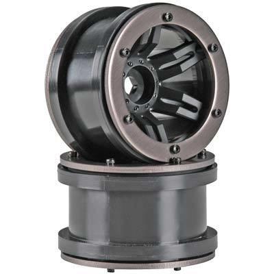 Axial Rocksters 2.2 Beadlock Wheel Black (2)