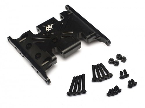 Boom Racing Aluminum Skid Plate (Black) for Axial SCX10