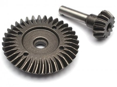 Boom Racing Heavy Duty Bevel Helical Gear Set - 36T/14T Overdrive For All 1/10 Axial Trucks