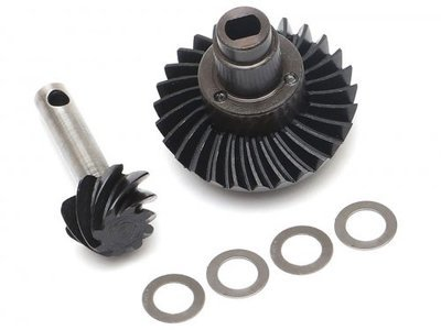 Boom Racing Heavy Duty Keyed Bevel Helical Overdrive Gear 27/8T + Differential Locker Set for AR44 Axle