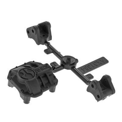 Axial Racing AR44 Diff Cover & Link Mounts Black