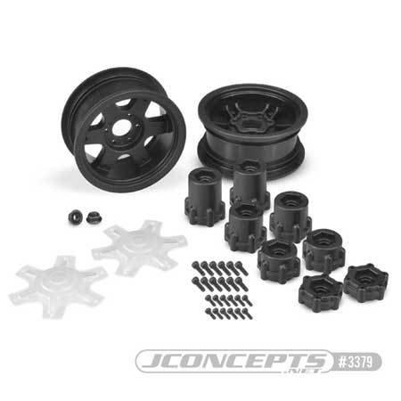 JConcepts Dragon 2.6 Mega Truck Wheel w/Adaptor, Black (2)