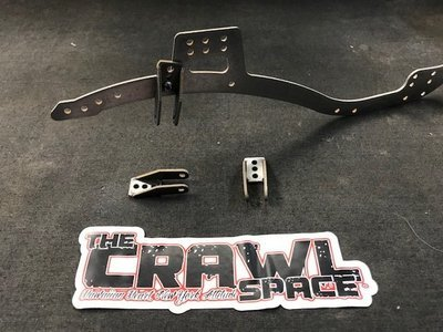 Comp Spec panhard chassis bracket, Steel.