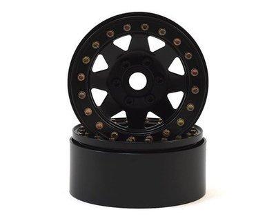 """SSD RC 1.9"""" Steel 8 Spoke Beadlock Wheels (Black) (2)"""